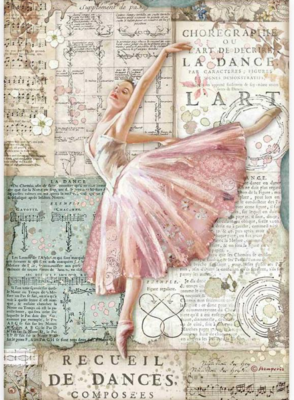 Dancer A4 Rice Paper - Passion Collection - Stamperia