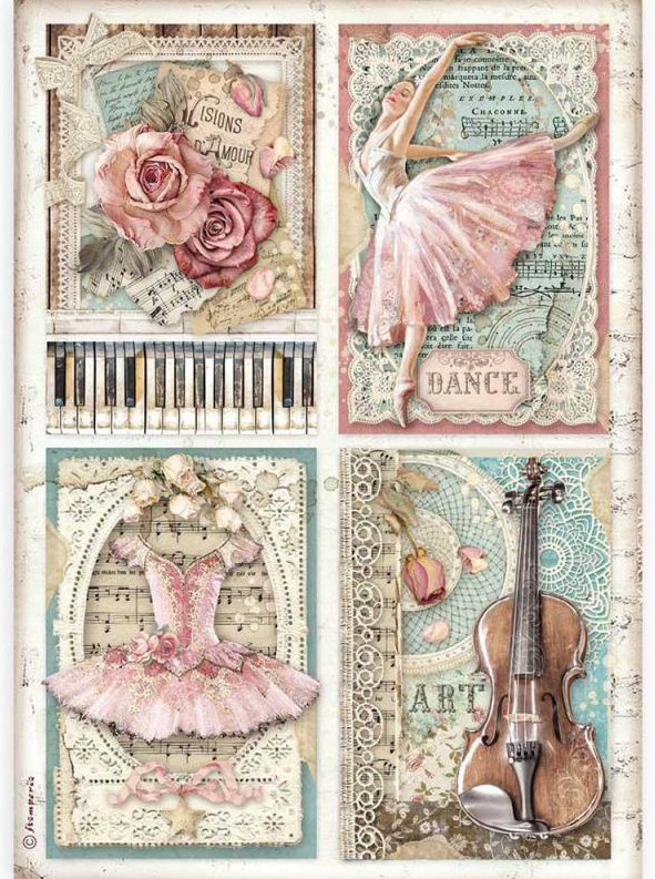 Cards A4 Rice Paper - Passion Collection - Stamperia
