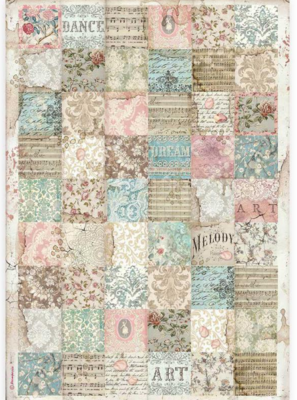 Patchwork A3 Rice Paper - Passion Collection - Stamperia