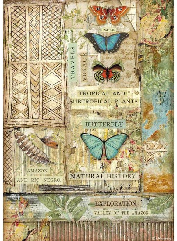 Butterfly A4 Rice Paper - Amazonia Collection - Stamperia
