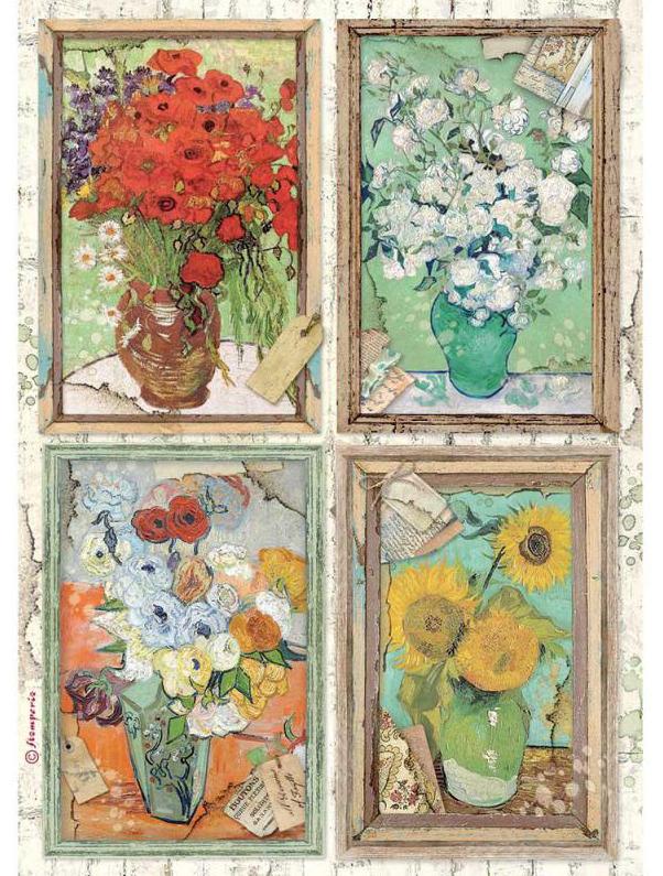 Van Gogh A4 Rice Paper - Atelier Des Arts Collection - Stamperia