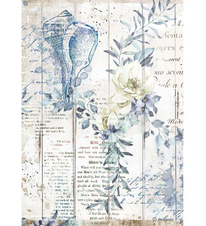 Shells A4 Rice Paper - Romantic Sea Dream Collection - Stamperia