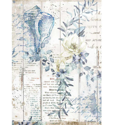 Shells A4 Rice Paper - Romantic Sea Dream Collection - Stamperia
