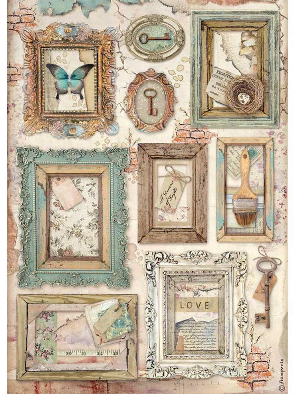 Frames A4 Rice Paper - Atelier Des Arts Collection - Stamperia