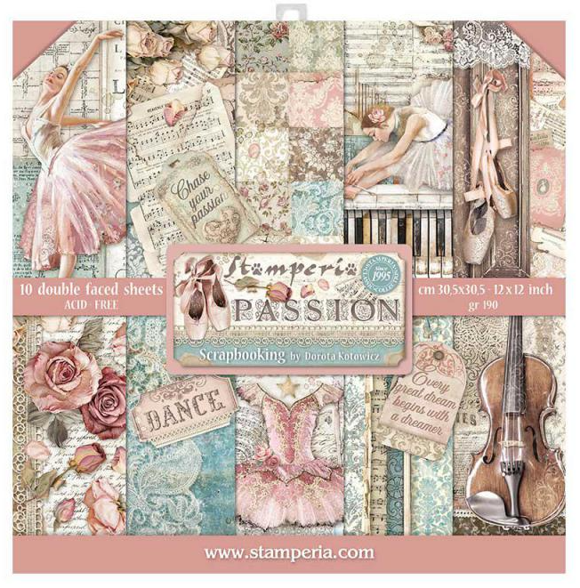Passion 12x12 Paper Pad - Passion Collection - Stamperia
