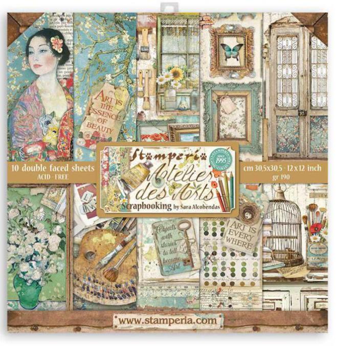 Atelier Des Arts 12x12 Paper Pad - Atelier Des Arts Collection - Stamperia