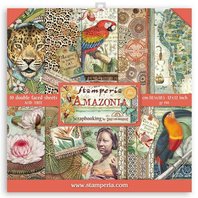 Amazonia 12x12 Paper Pad - Amazonia Collection - Stamperia