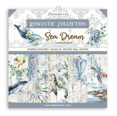 Romantic Sea Dream 12x12 Paper Pad - Romantic Sea Dream Collection - Stamperia