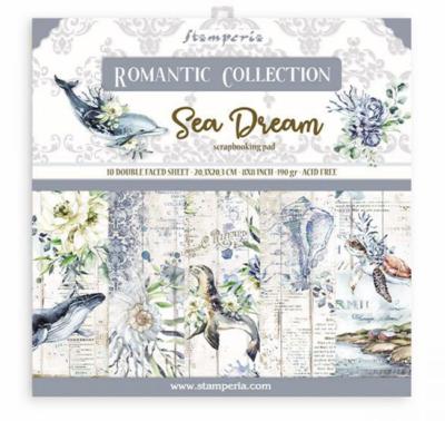 Romantic Sea Dream 8x8 Paper Pad - Romantic Sea Dream Collection - Stamperia