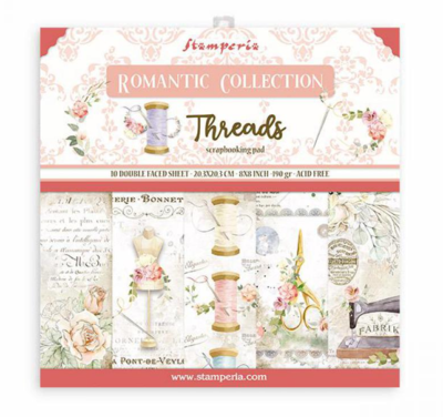 Romantic Threads 8x8 Paper Pad - Romantic Threads Collection - Stamperia