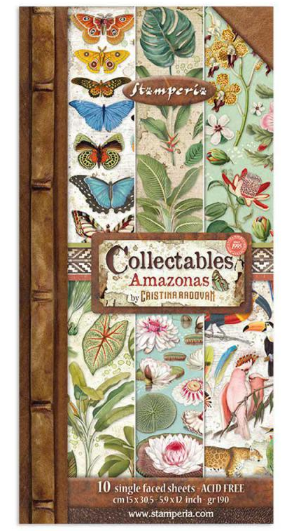 Amazonia 6x12 Collectibles Paper Pad - Amazonia Collection - Stamperia