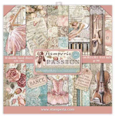 Passion 8x8 Paper Pad - Passion Collection - Stamperia