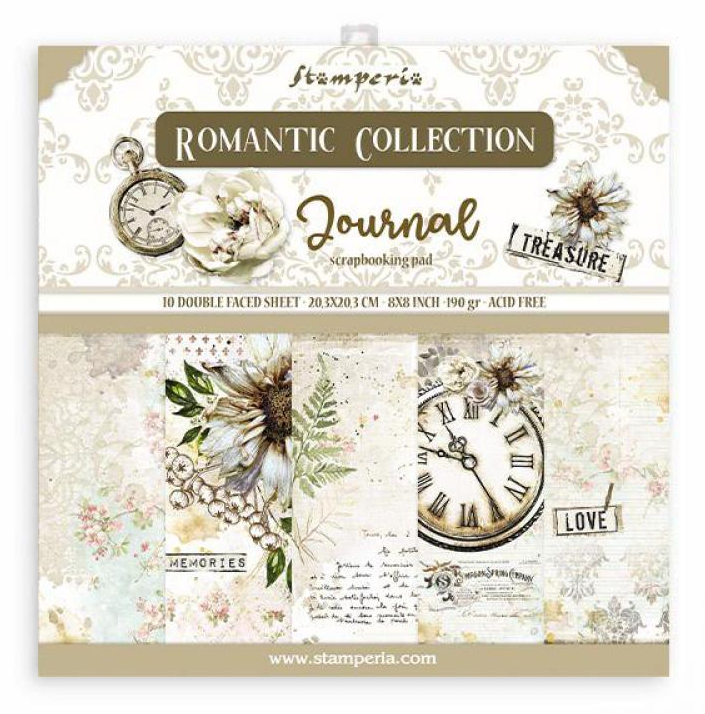 Romantic Journal 8x8 Paper Pad - Romantic Journal Collection - Stamperia