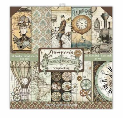 Voyages Fantastiques 8x8 Paper Pad - Voyages Fantastiques Collection - Stamperia