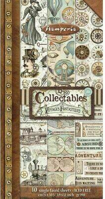 Voyages Fantastiques 6x12 Collectibles Paper Pad - Voyages Fantastiques Collection - Stamperia