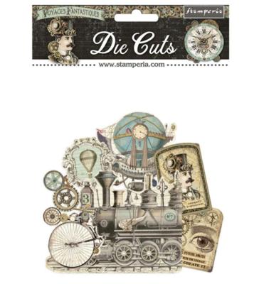 Voyages Fantastiques Assorted Die Cut Pieces - Voyages Fantastiques Collection - Stamperia
