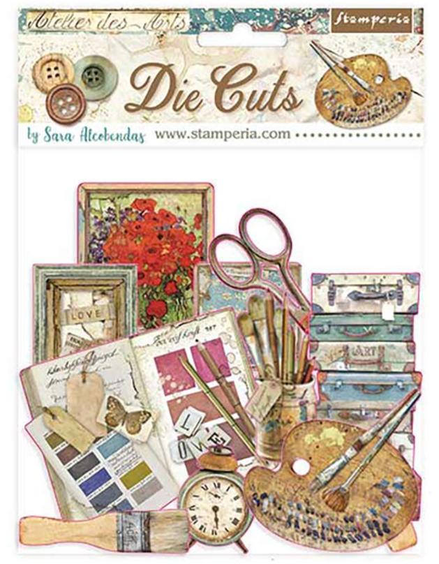 Atelier Des Arts Assorted Die Cut Pieces - Atelier Des Arts Collection - Stamperia