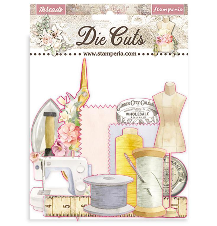 Romantic Threads Assorted Die Cut Pieces - Romantic Threads Collection - Stamperia