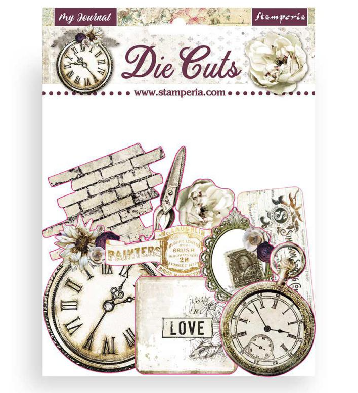Romantic Journal Assorted Die Cut Pieces - Romantic Journal Collection - Stamperia