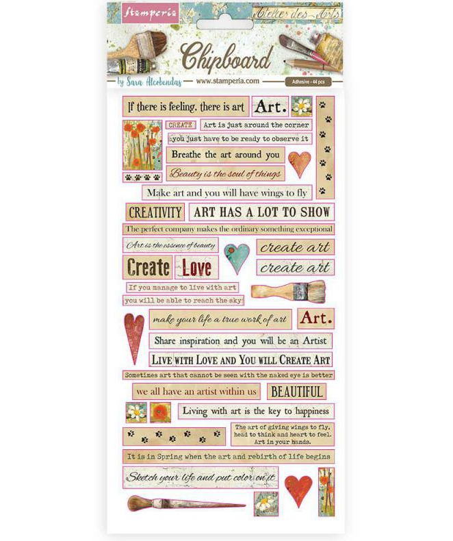 Atelier Quotes Chipboard - Stamperia
