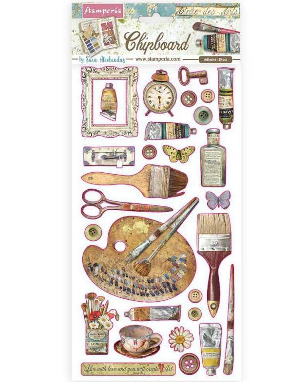 Atelier Decorations Chipboard - Stamperia