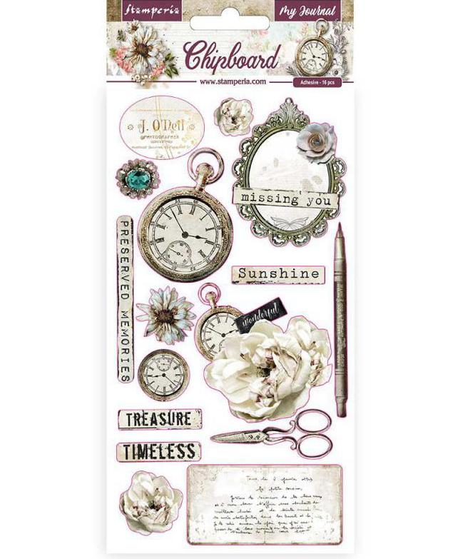Romantic Journal Chipboard - Stamperia