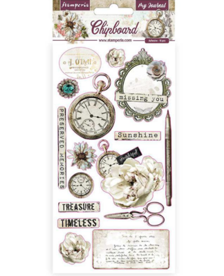 Romantic Journal Chipboard - Stamperia