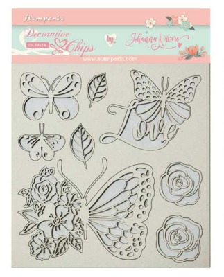 Butterfly Decorative Chips - Circle of Love Collection - Stamperia