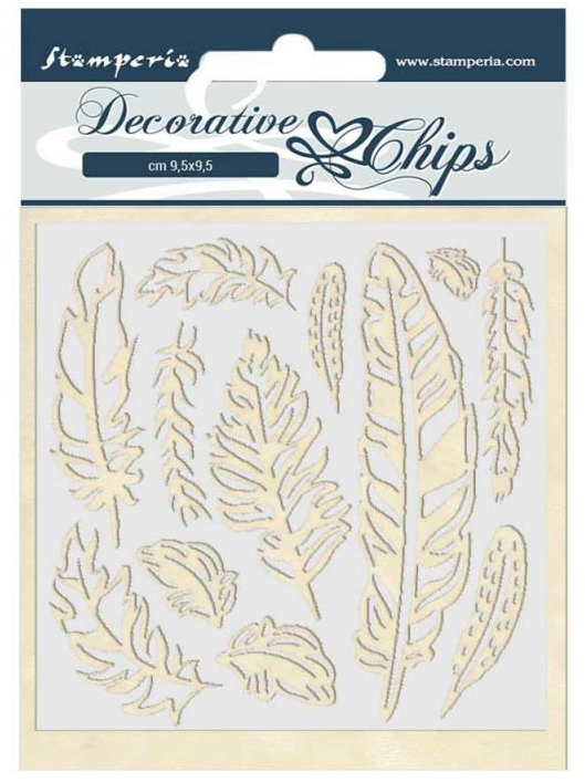 Feather Decorative Chips - Amazonia Collection - Stamperia