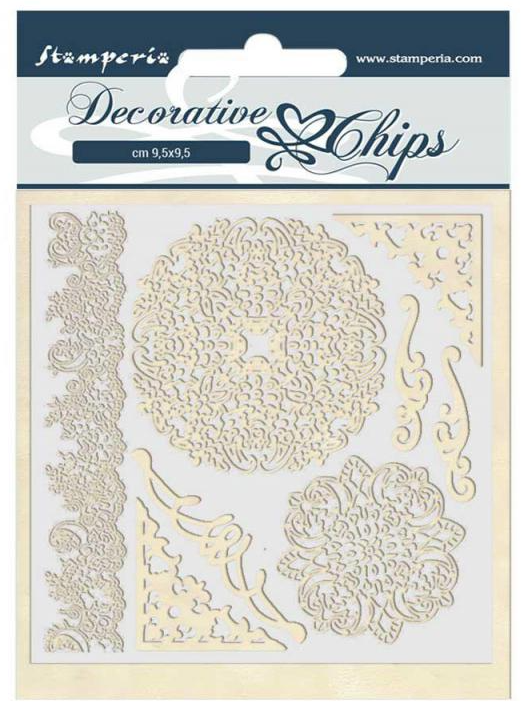 Laces and Corners Decorative Chips - Passion Collection - Stamperia