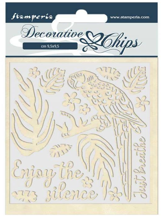 Parrot Decorative Chips - Amazonia Collection - Stamperia