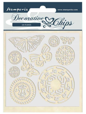 Butterfly Tribal Decorative Chips - Amazonia Collection - Stamperia