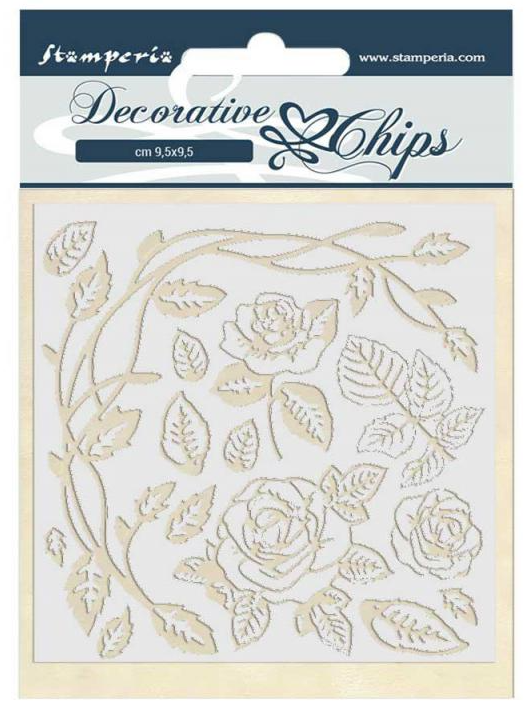 Roses Decorative Chips - Passion Collection - Stamperia