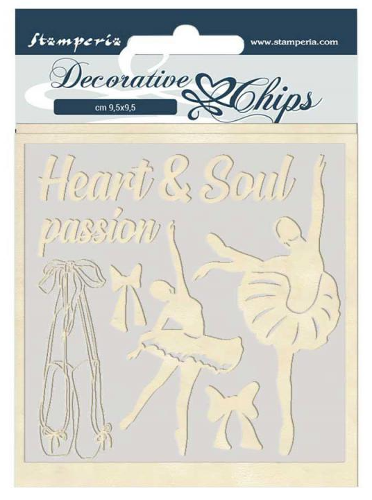 Dancer Decorative Chips - Passion Collection - Stamperia