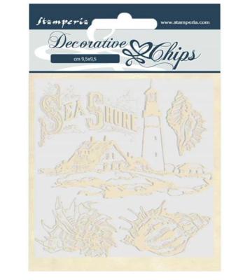 Sea Shore Decorative Chips - Romantic Sea Dream Collection - Stamperia