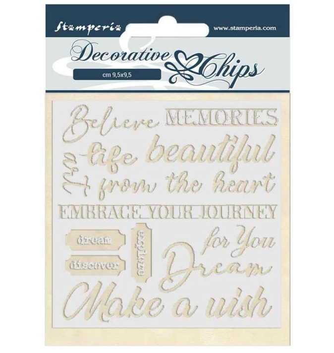 Quotes Decorative Chips - Atelier Des Arts Collection - Stamperia