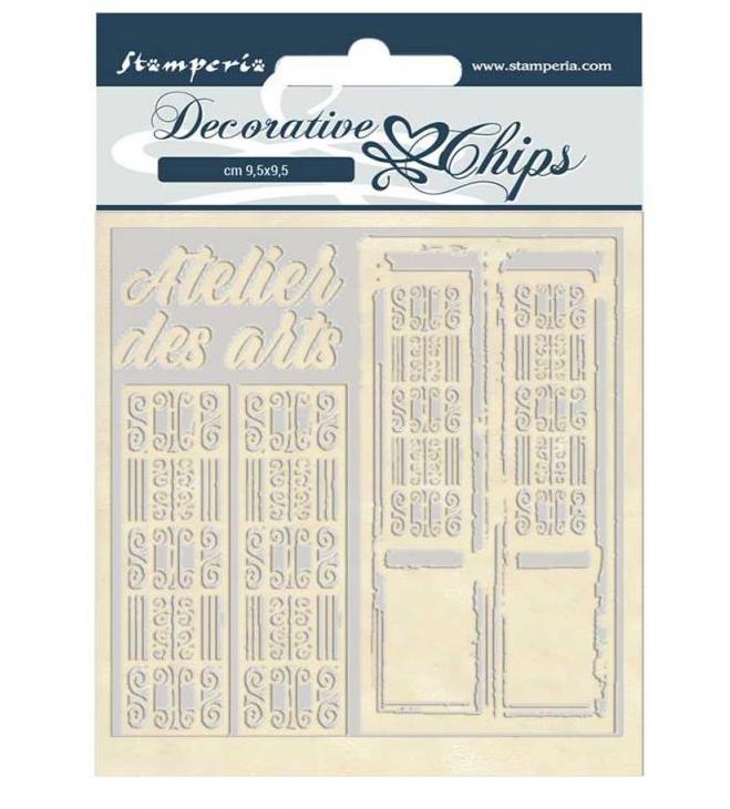Door Decorative Chips - Atelier Des Arts Collection - Stamperia