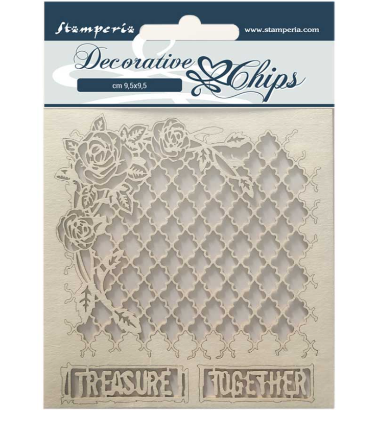 Treasure Together Decorative Chips - Romantic Journal Collection - Stamperia