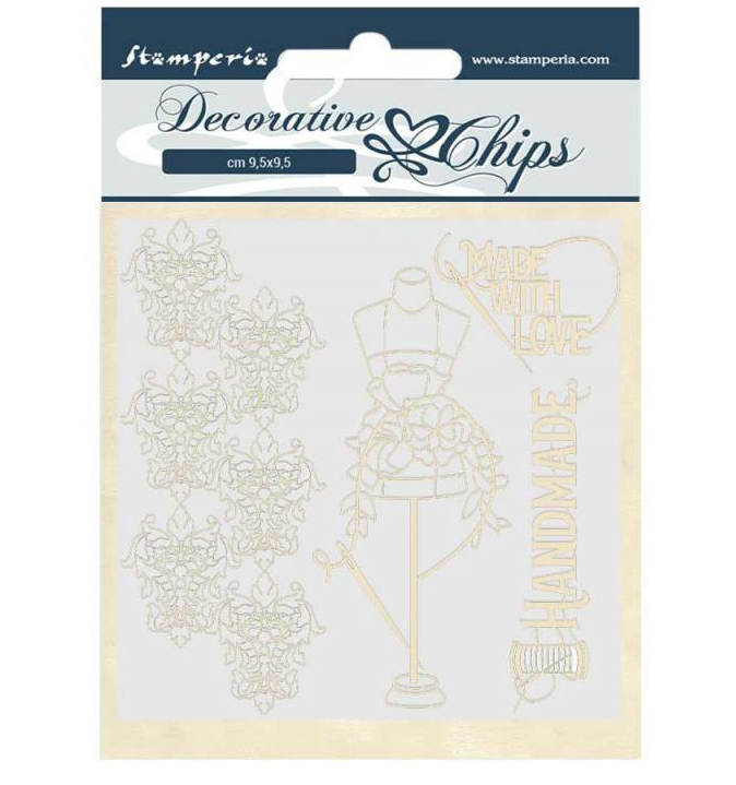 Threads Decorative Chips - Romantic Threads Collection - Stamperia