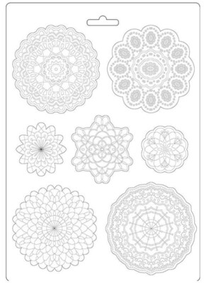 Round Lace A4 Soft Mould - Passion Collection - Stamperia