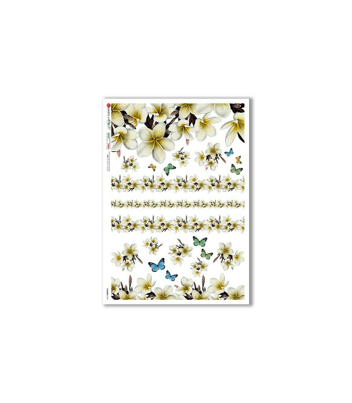 Flowers-0369 - A4 Rice Paper - Paper Designs