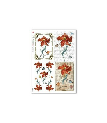 Flowers-0363 - A4 Rice Paper - Paper Designs