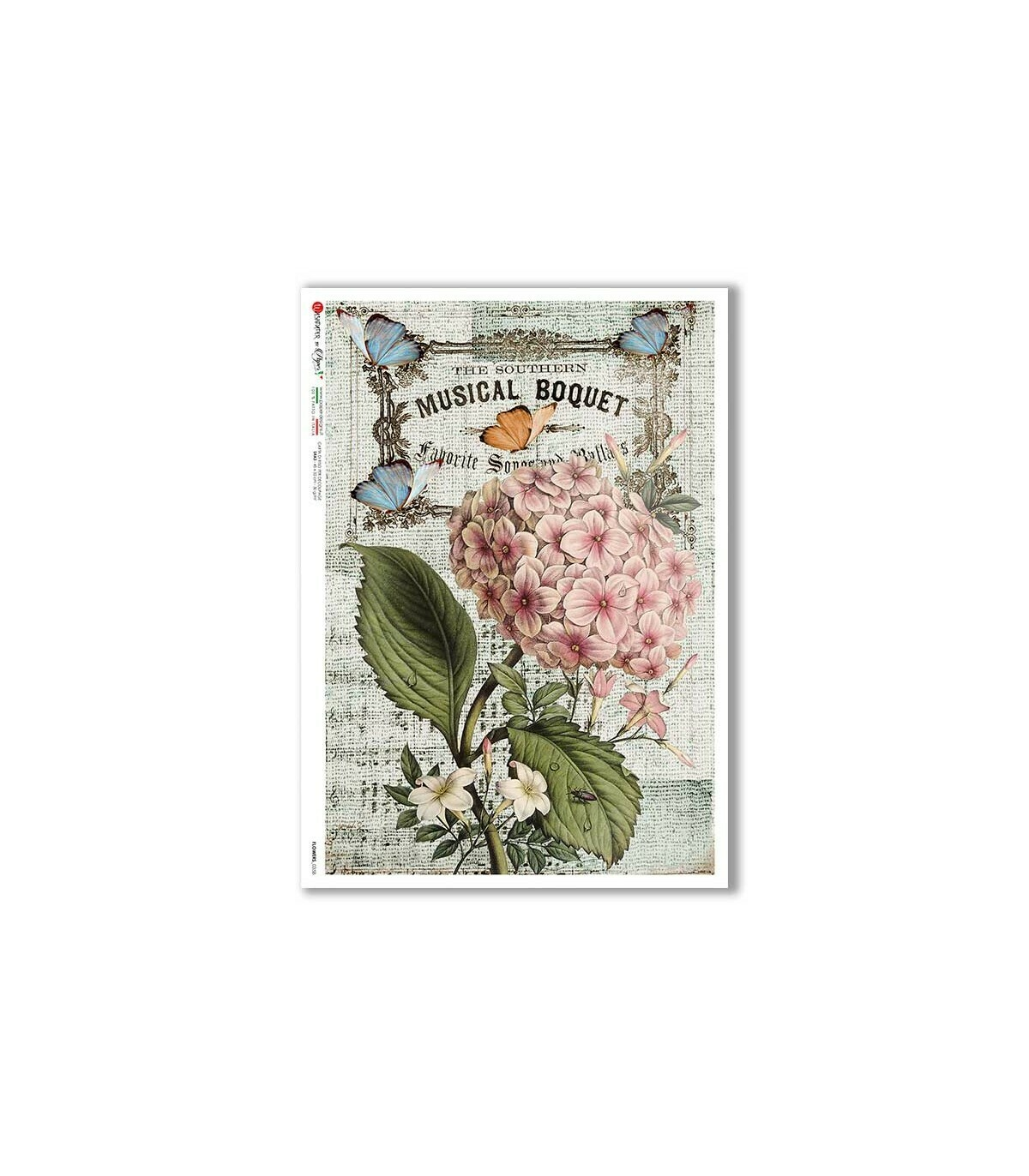 Flowers-0358 - A4 Rice Paper - Paper Designs