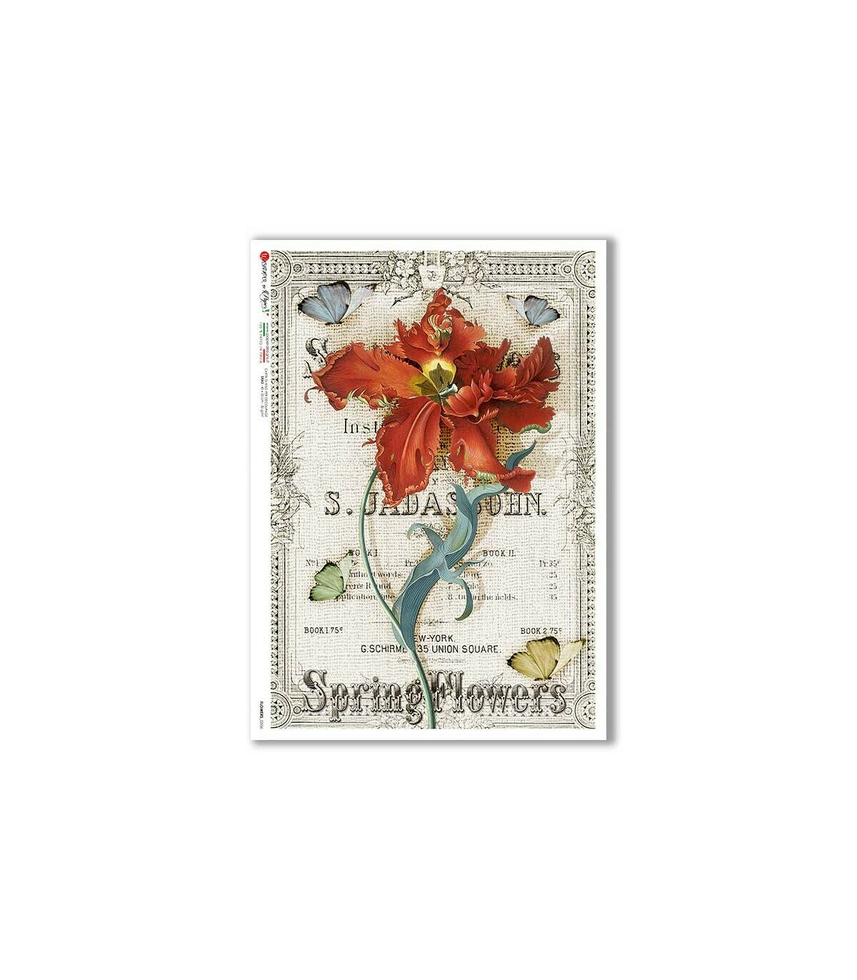 Flowers-0356 - A4 Rice Paper - Paper Designs