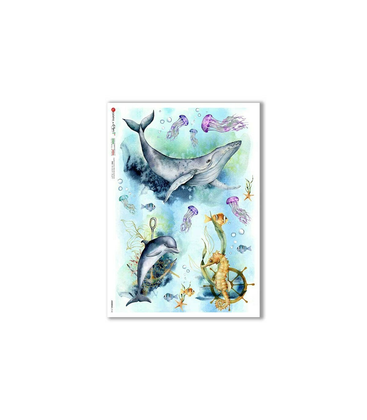 Animals-0164 - A4 Rice Paper - Paper Designs