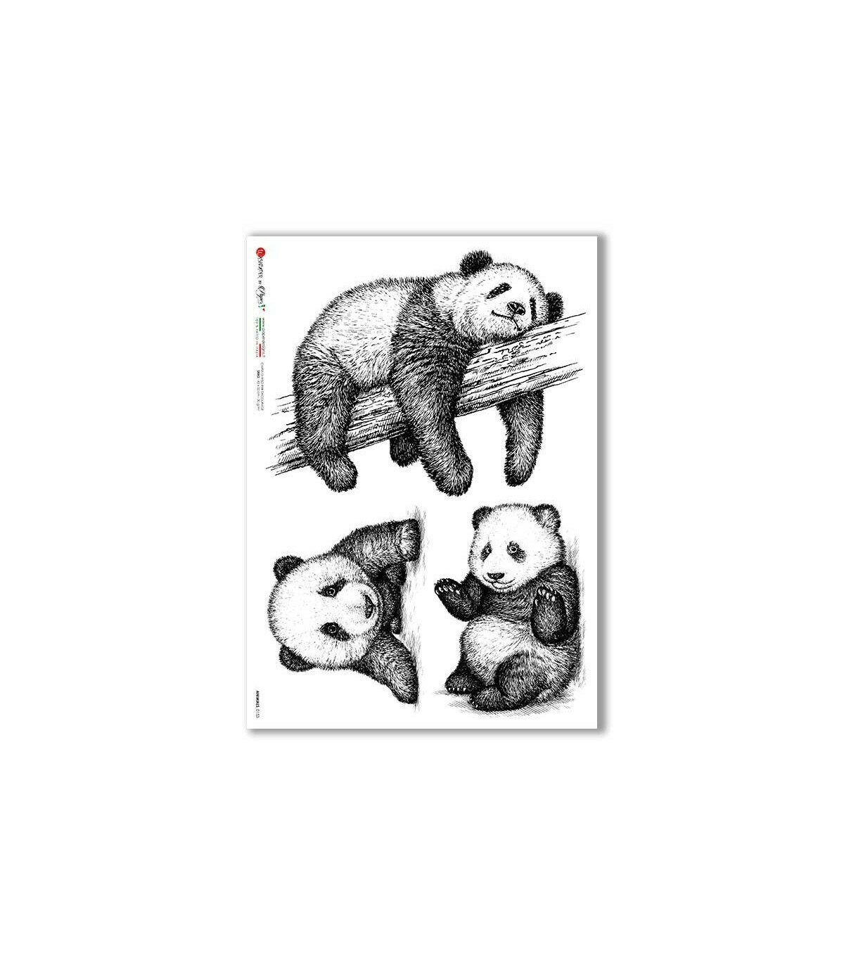 Animals-0153 - A4 Rice Paper - Paper Designs