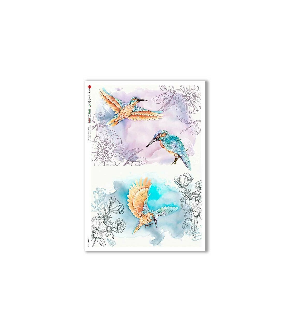 Animals-0148 - A4 Rice Paper - Paper Designs