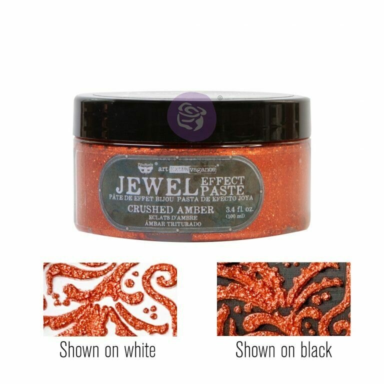 Crushed Amber - Jewel Texture Paste - Art Extravagance - Prima