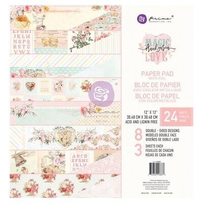 Magic Love Collection - 12x12 Paper Pad - Prima Marketing