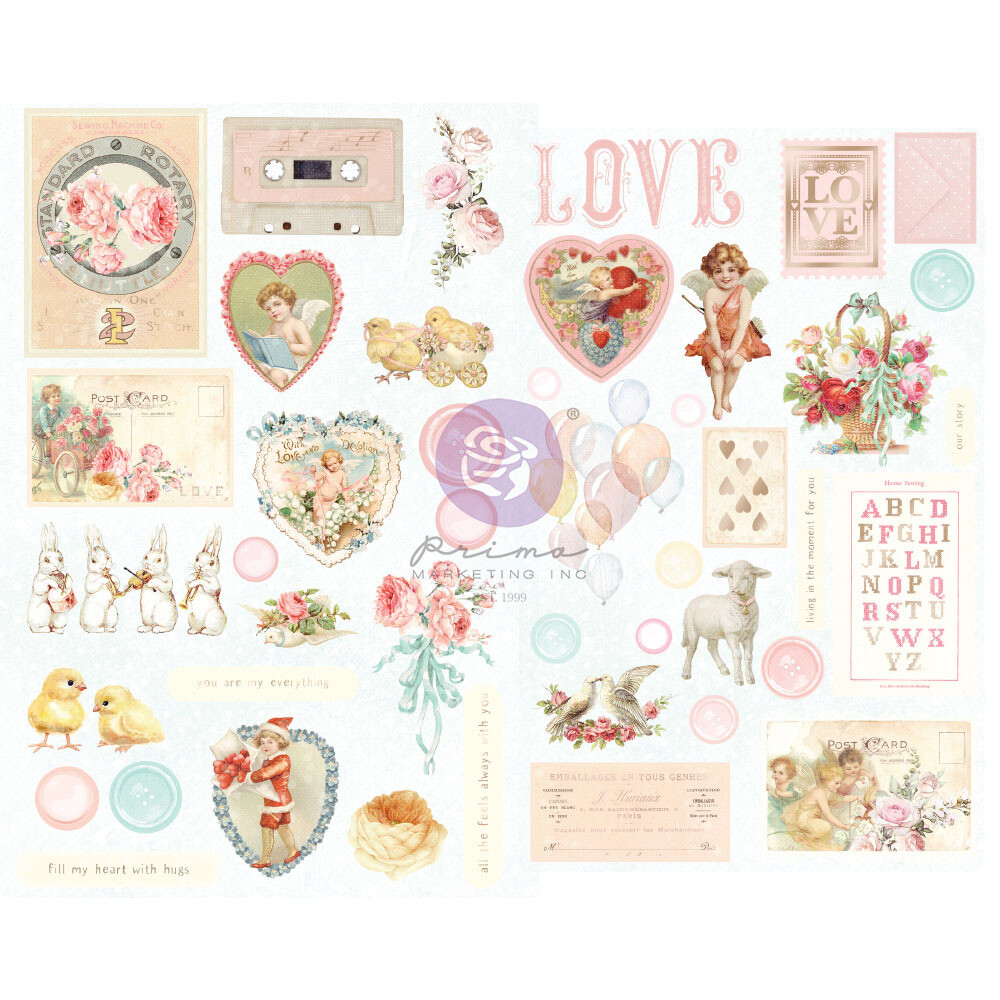 Magic Love Chipboard Stickers - Magic Love Collection